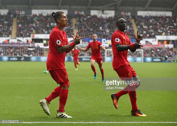 Mane and Firmino have been in fine form. Photo: