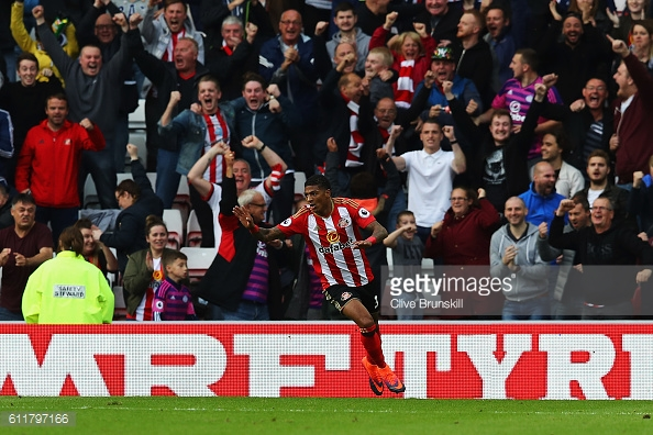 Patrick van Aanholt celebrating his goal in Sunderland's 1-1 draw with West Brom | Photo: Getty Images