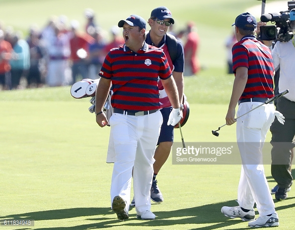 Reed holed out from the fairway at the sixth (photo:getty)
