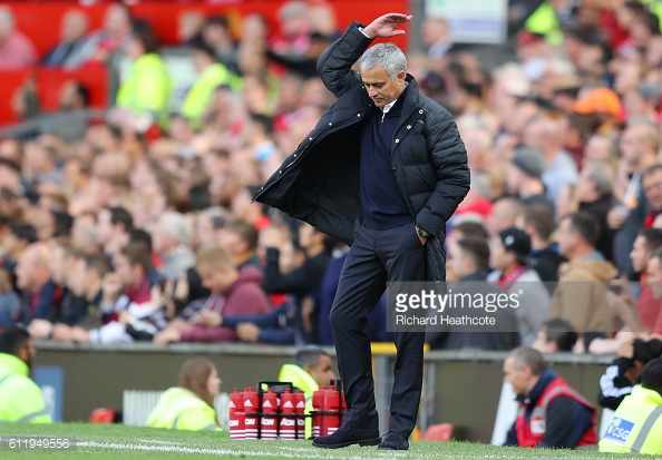 Mourinho couldn't believe that his team didn't win the game | Photo: Richard Heathcote / Getty Images