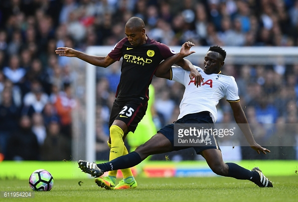Wanyama was in fine form against City. Photo: Getty