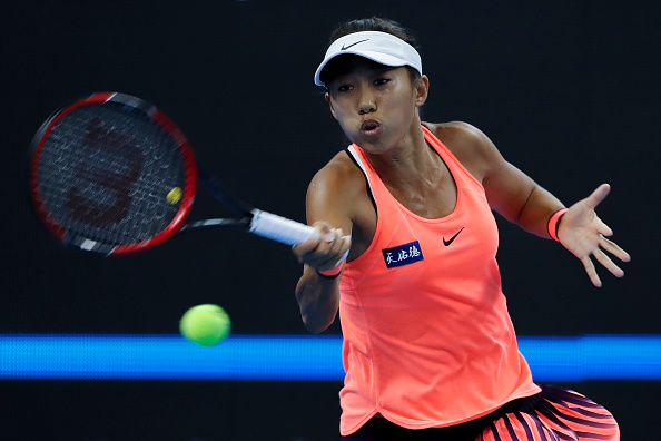 Zhang regains control of the match | Photo: Etienne Oliveau/Getty Images