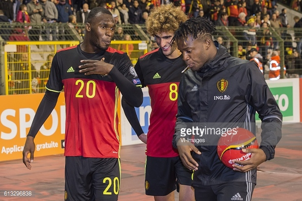 Benteke (left) appeared as a substitute for Belgium | Photo: Getty images / VI Images