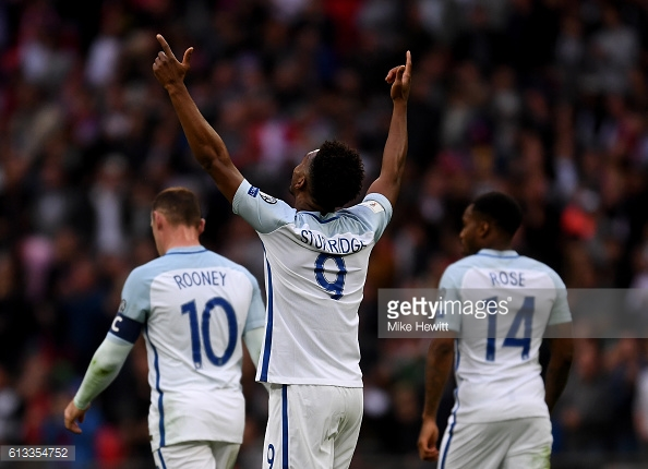 Sturridge celebrating opening the scoring at Wembley | Photo: