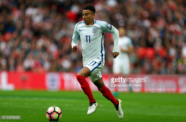 Lingard enjoyed a good debut with England at the weekend | Photo: Catherine Ivill - AMA / Getty Images