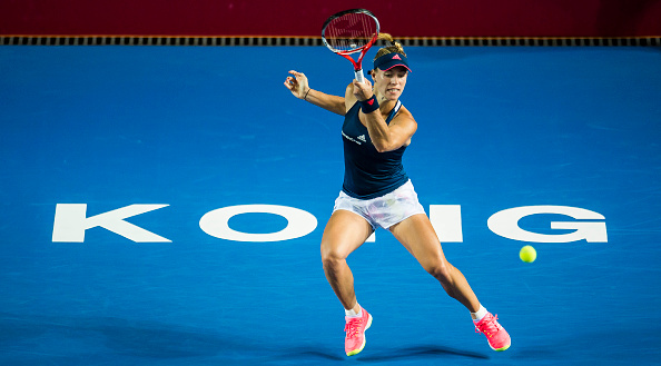 Kerber cruises through the first set | Photo: Power Sport Images/Getty Images