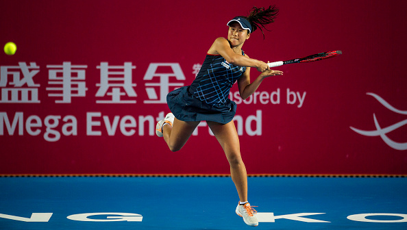 Hibino hangs on to complete the upset | Photo: Power Sport Images/Getty Images