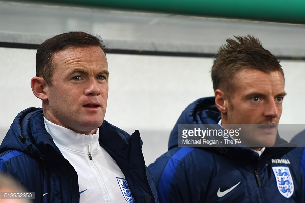 Rooney started on the bench for England in Solvenia on Tuesday night | Photo: