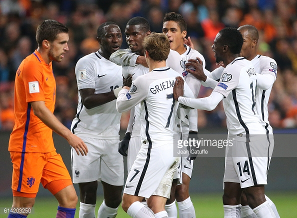 Pogba scored a brilliant long range effort against the Netherlands to give Les Bleus the 1-0 victory | (Source: Getty | Jean Catuffe)