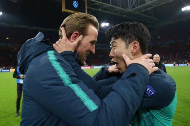 Heung Min Son y Harry Kane, las armas letales del Tottenham / Foto: Twitte oficial Tottenham