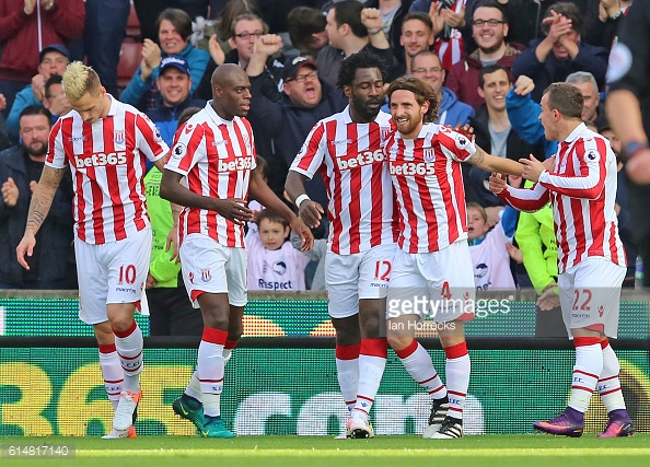 Above: Joe Allen celebrating one of his two goals in Sunderland's 2-0 defeat to Stoke | Photo: Getty Images
