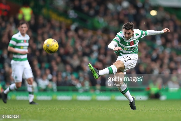 Roberts playing for Celtic on loan. Photo: Ian McDowell/Getty
