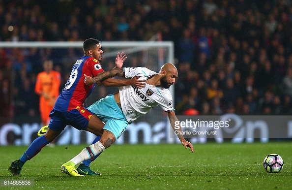 Above: Simone Zaza in action during West Ham's 1-0 win over Crystal Palace | Photo: Getty Images