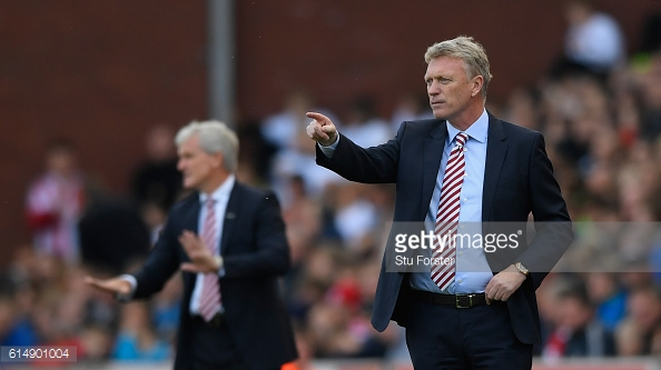 Above: David Moyes on the sideline during Sunderland's 2-0 defeat to Stoke | Photo: Getty Images