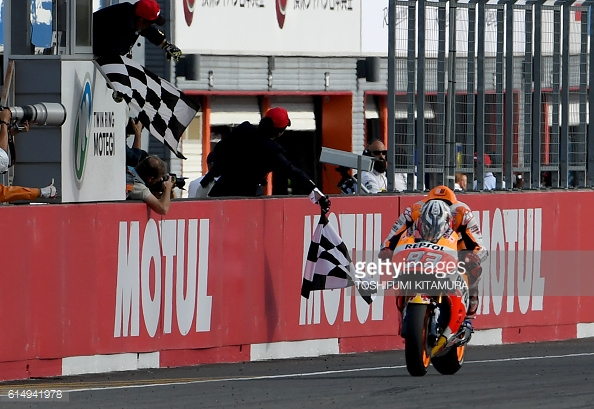 Marquez claims MotoGP Championship in China / Getty Images/ Toshifumi Kitamura