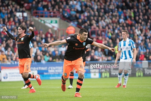 Fernando Forestieri has scored in both games against Huddersfield this season. (picture: Getty Images / Nathan Stirk)