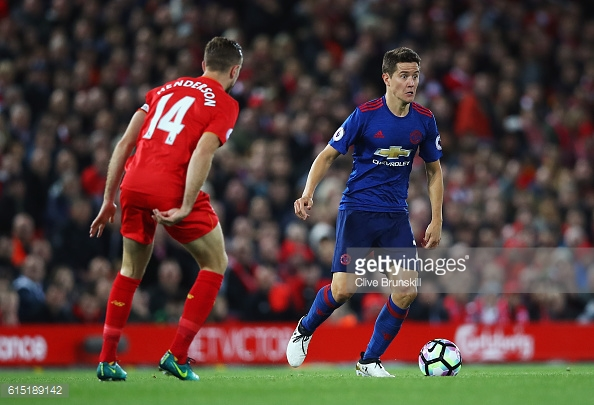 Herrera was awarded man on the match for his performance against Liverpool | Photo: Clive Brunskill / Getty Images