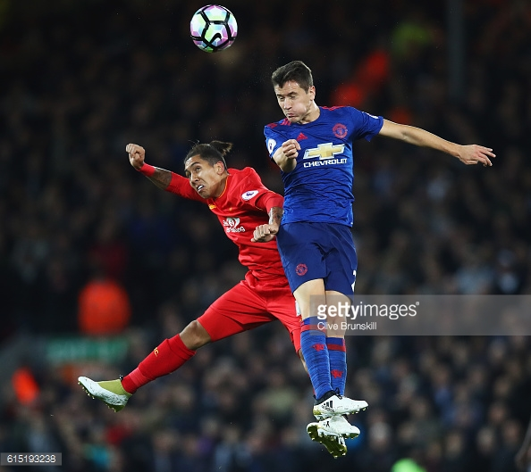 Ander Herrera did a fine job in front of the defence and was one of the better United players on the day | Source: Getty / Clive Brunskill