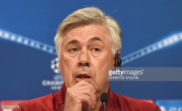 Ancelotti during his pre-match press conference before the PSV game | Photo: Getty Images