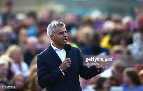 Above: mayor of London Sadiq Khan has ordered a investigation into the cost of West Ham's London Stadium | Photo: Getty Images
