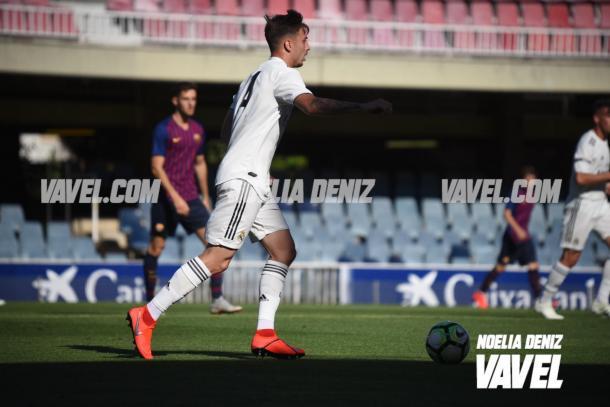 Mario Gila en el Barcelona - Real Madrid Juvenil | Foto: Noelia Déniz (VAVEL)