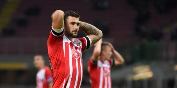 Southampton were left to rue a number of missed opportunities as they lost in Milan. Photo: Getty.