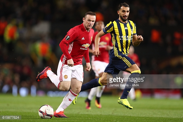 Rooney in action against Fenerbahce. Image Courtesy- Getty