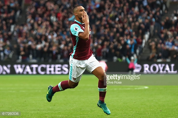 Above: Winston Reid celebrating his goal in West Ham's 1-0 win over Sunderland   Photo: Getty Images