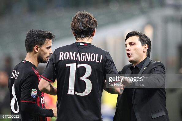 Suso, Romagnoli e Montella - getty Images