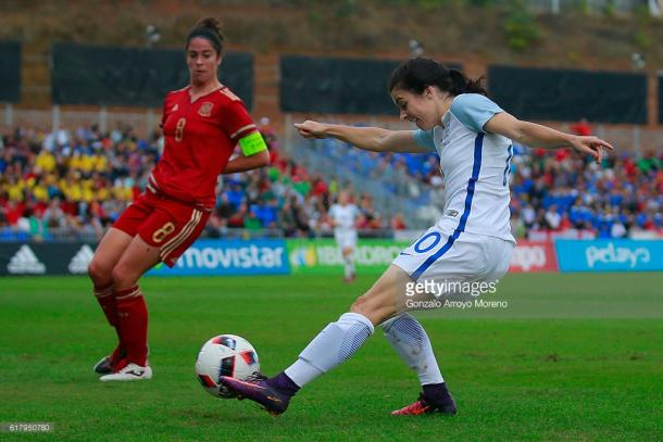 After a muted season with Chelsea, Carney was back to her magical best in Spain