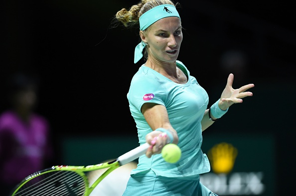 Kuznetsova fights hard and forces a tiebreak | Photo: Roslan Rahman/Getty Images