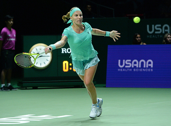 Kuznetsova fires back to take the second set | Photo: Roslan Rahman/Getty Images