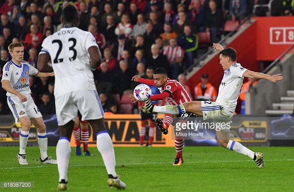 Boufal opening his account with a worldy!. Source: Getty