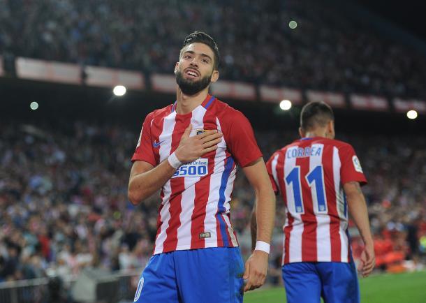 Carrasco, doppietta per lui nella vittoria dell'Atletico sul Malaga 4-2 (Fonte foto: The Sun)