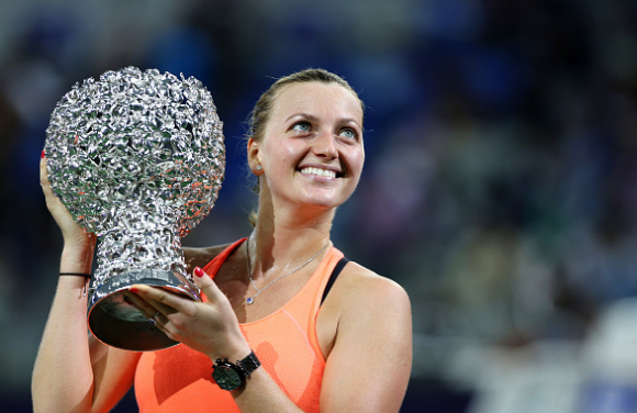 Kvitova finished 2016 with a bang by winning her second trophy of the year at the WTA Elite Trophy. Photo credit: VCG/Getty Images.