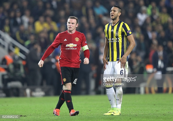 Above: Wayne Rooney's muted celebration in Manchester United's 2-1 defeat to Fenerbahce | Photo: Getty Images