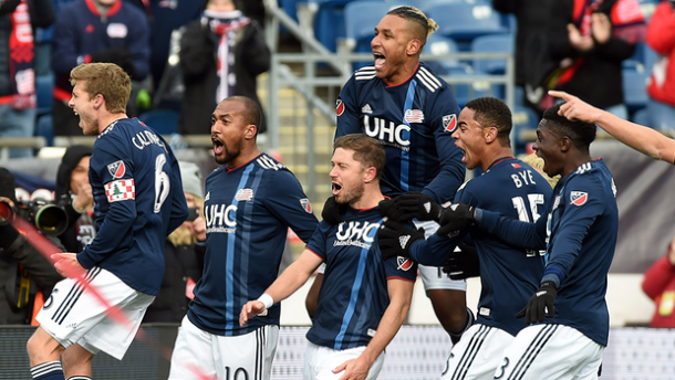 The 'Revs' celebrate their last gasp winner against Colorado | Source: mlssoccer.com