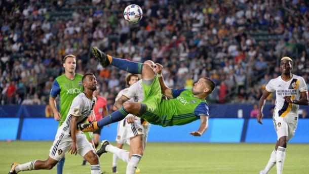 Clint Dempsey's audacious attempt was ruled out by an offside flag | Source: mlssoccer.com