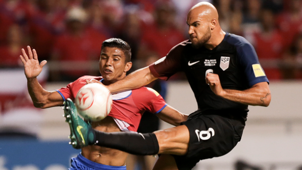 John Brooks and Johan Venegas battle for the ball | Source: mlssoccer.com