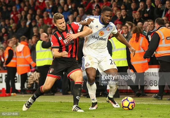 Simon Francis' battle against Victor Anichebe should be one to watch ( Source: Alex Morton / Getty)