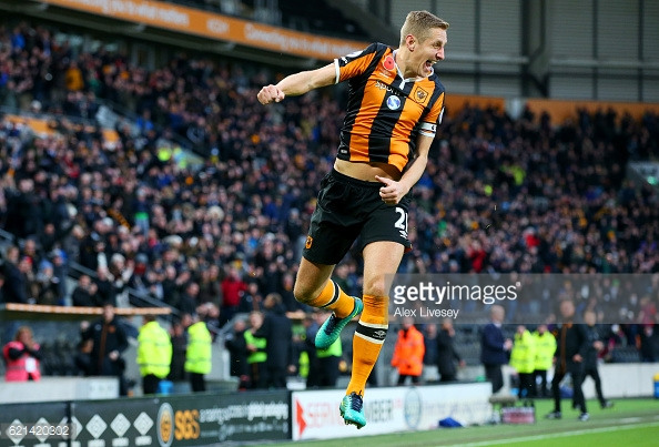 Michael Dawson celebrates the winner (photo: Getty Images)