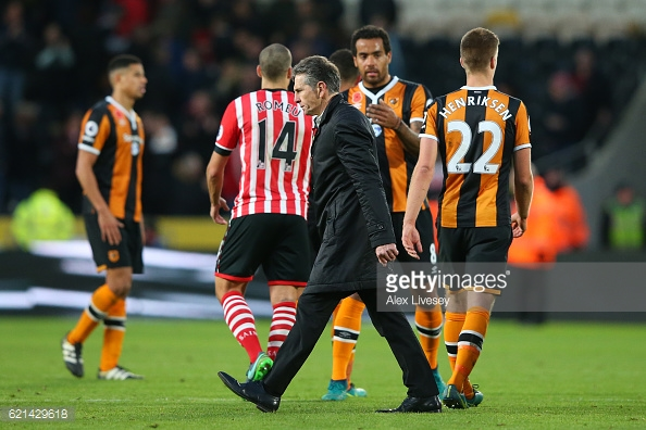 Puel was unhappy after his side threw away a goal lead. Photo: Getty