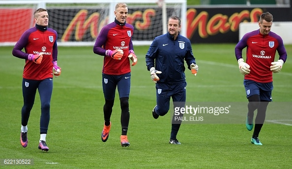 Pickford (far left) and Heaton (far right) have both been pushing for the England number one spot (photo: Getty Images)