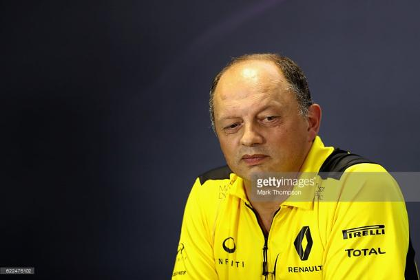 Vasseur fell out with the Renault board last year. | Photo: Getty Images/Mark Thompson