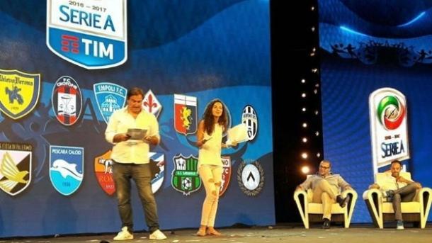 Apresentação do calendário da Serie 2016/17, em Milão (Foto: Divulgação/Lega Serie A)