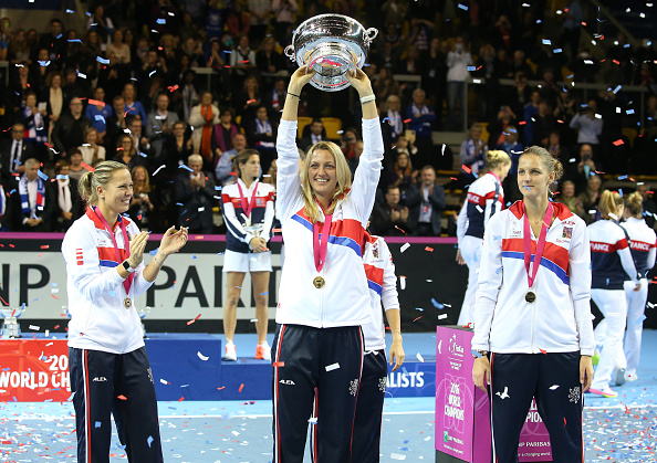 Kvitova enjoyed Fed Cup success once again as her country sailed to its fifth crown in the last six years. Photo credit: Jean Catuffe/Getty Images.