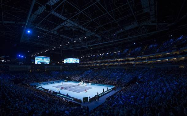 The O2 Arena in London during the ATP World Tour Finals last year. Photo credit: Anadolu Agency/Getty Images.
