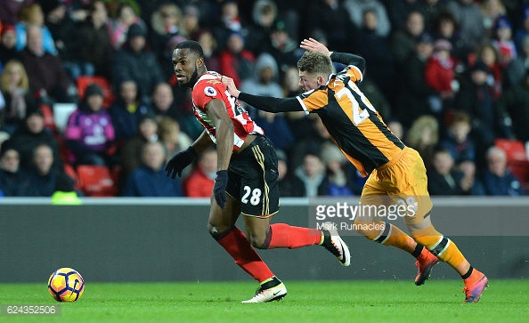 Tymon struggled at times against Anichebe (photo: Getty Images)