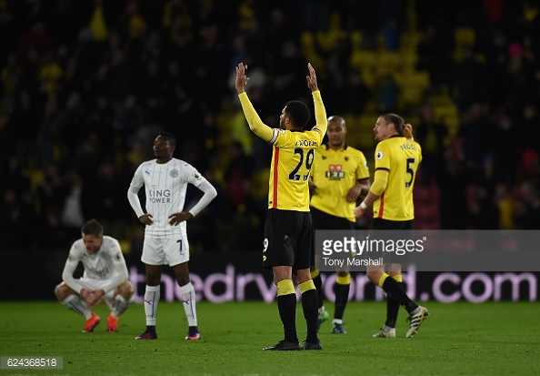 Watford players after their 2-1 against Leicester City. | Photo: Tony Marshall/Getty Images