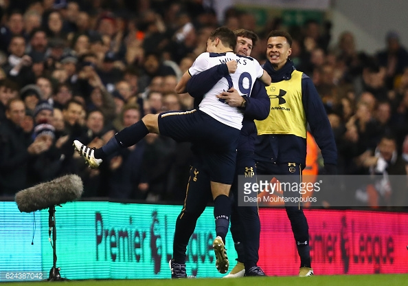 Winks shows his appreciation towards Pochettino. Photo: Dean